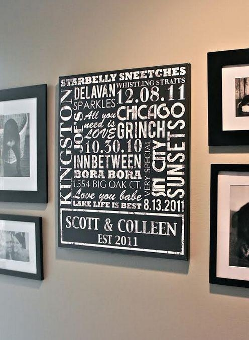 357 Best Gifts For Newlyweds Personalized Gifts Images On With Custom Canvas Art With Words (Image 3 of 20)