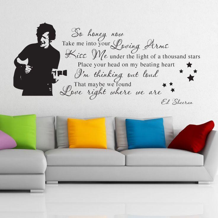36 Best Ed Sheeran Images On Pinterest | Ed Sheeran, Thinking Out In Music Lyrics Wall Art (Image 3 of 20)
