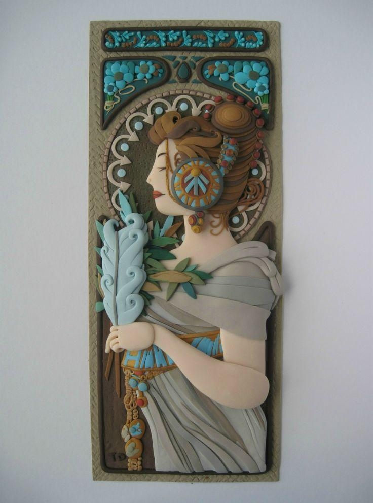 367 Best Polymer Clay Wall Hanging Images On Pinterest | Fimo Pertaining To Polymer Clay Wall Art (View 2 of 20)