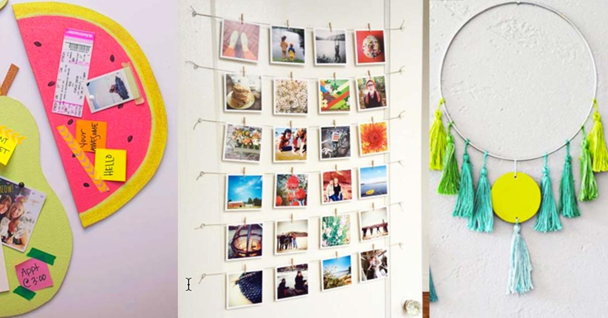 37 Awesome Diy Wall Art Ideas For Teen Girls – Diy Projects For Teens Pertaining To Teenage Wall Art (Image 2 of 20)