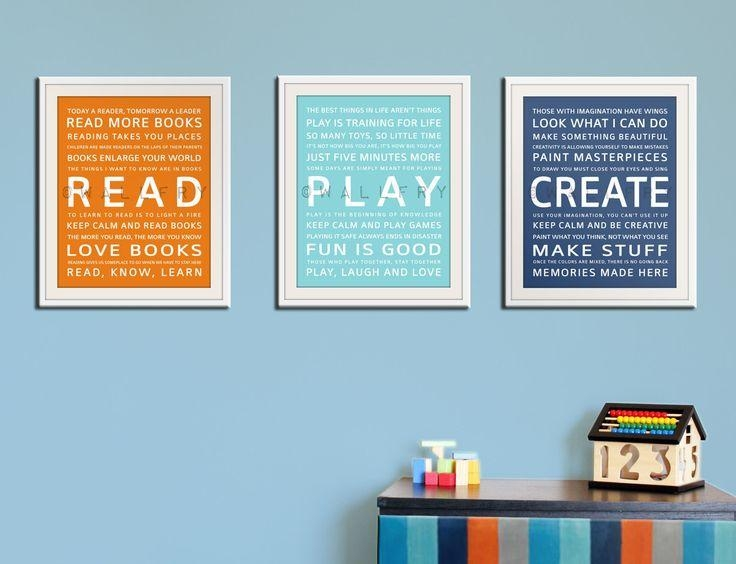 380 Best Design Ideas For The Nursery Images On Pinterest With Wall Art For Playroom (Image 4 of 20)