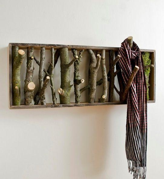 381 Best Pallet Coat Racks & Coat Hangers Images On Pinterest In Wall Art Coat Hooks (Image 3 of 20)