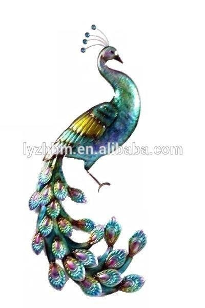 386 Best Peacock Things Images On Pinterest | Colors, Home And With Regard To Peacock Metal Wall Art (Image 6 of 20)