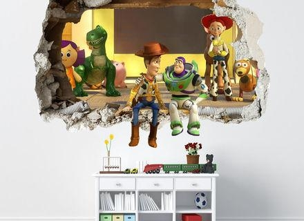 39 Toy Story Wall Decals, Toy Story Woody Wall Stickers Regarding Toy Story Wall Art (View 15 of 20)