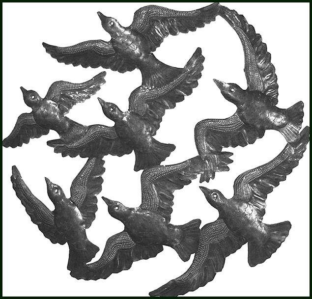 397 Best Haitian Metal – Steel Drum Art Images On Pinterest Regarding Flock Of Birds Metal Wall Art (View 17 of 20)