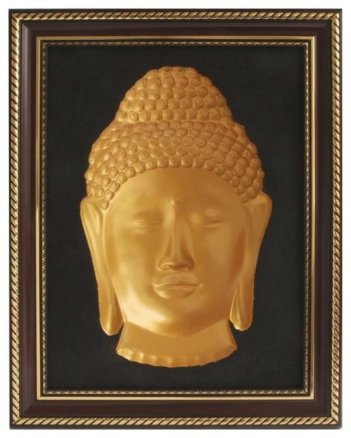3D Buddha Concave Wall Sculpture – Asian – Wall Sculptures – With Regard To 3D Buddha Wall Art (Image 2 of 20)