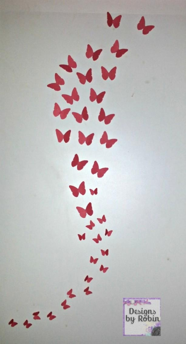 3D Butterfly Wall Art, Swarm Of Butterflies,wall Art, Baby Room D With Butterflies 3D Wall Art (Image 3 of 20)