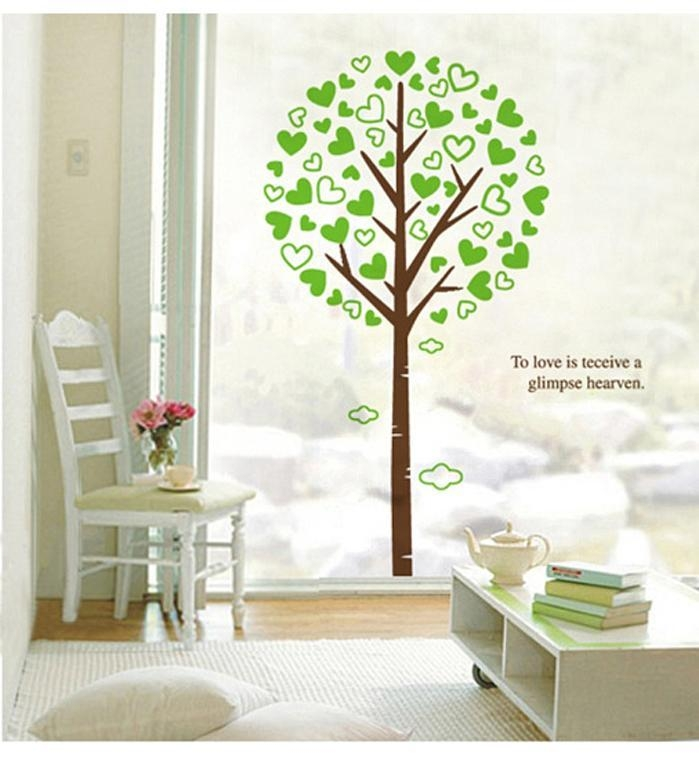 3D Large Green Tree Wall Art Mural Decor To Love Is Receive A With 3D Tree Wall Art (View 20 of 20)