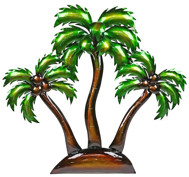 3D Metal Island Palm Trees Wall Art Intended For Palm Tree Metal Art (Image 9 of 20)
