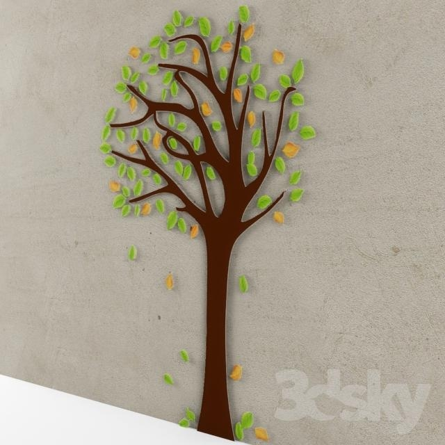 3D Models: Miscellaneous – Tree 3D Wall Art With Regard To 3D Tree Wall Art (View 7 of 20)