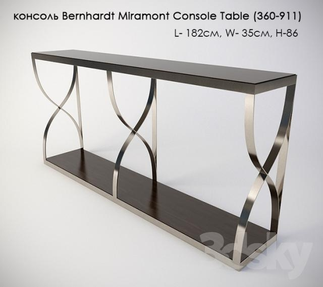3D Models: Other – Bernhardt Miramont Console Table (360 911) Console With Bernhardt Console Tables (Image 2 of 20)
