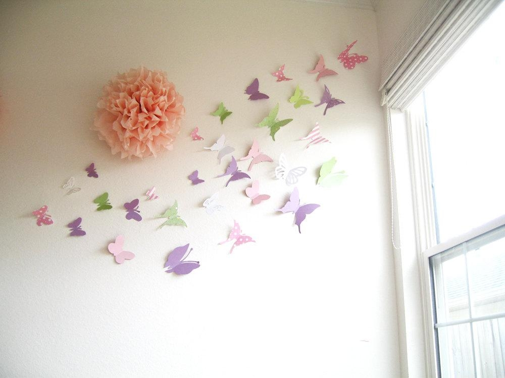 3D Wall Art For Baby Nursery | Wallartideas Throughout Butterflies 3D Wall Art (Image 4 of 20)