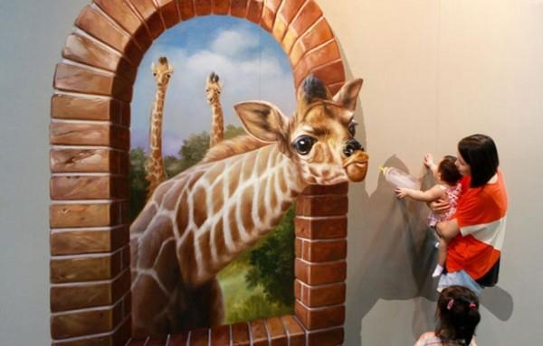 3D Wall Art Illusions | Wallartideas With Optical Illusion Wall Art (Image 2 of 20)