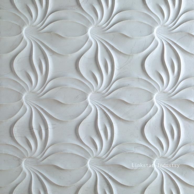 3D White Sculptural Stone Wall Art Tile | Yanyan Wang | Pulse For White 3D Wall Art (View 13 of 20)