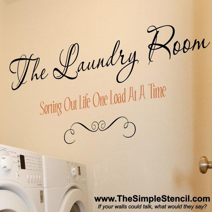 4 Fresh New Laundry Room Decals | Vinyl Lettering & Stickers Regarding Laundry Room Wall Art Decors (View 17 of 20)
