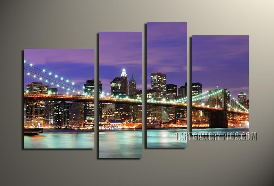 4 Piece Wall Art Set, Multiple Canvas Wall Art, Inside 4 Piece Wall Art (Image 8 of 20)