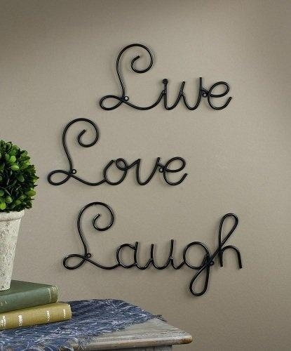 40 Best Live, Love, Laugh!!! Images On Pinterest | Live Laugh Love Intended For Live Love Laugh Metal Wall Art (Image 2 of 20)