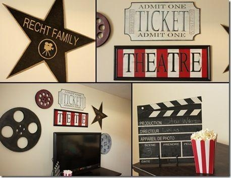 40 Best Theater Images On Pinterest | Cinema Room, Theatre Rooms Intended For Media Room Wall Art (Image 9 of 20)