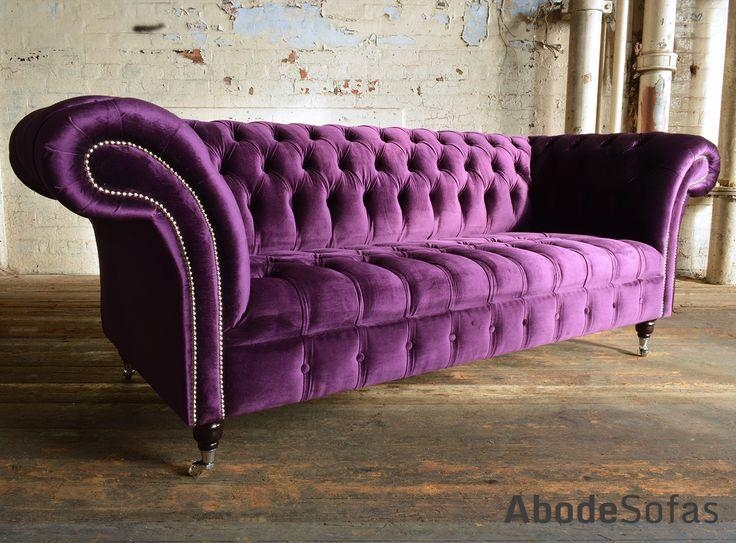 41 Best Velvet & Wool Chesterfield Sofas & Chairs Images On Intended For Purple Chesterfield Sofas (Photo 17 of 20)