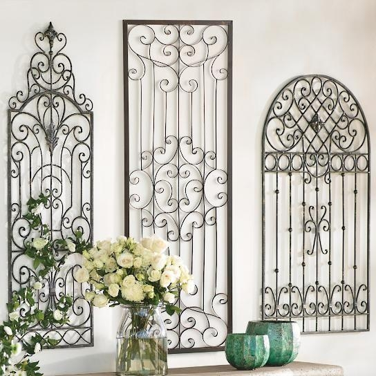 42 Best Wrought Iron Images On Pinterest | Wrought Iron, Outdoor Inside Metal Gate Wall Art (Image 7 of 20)