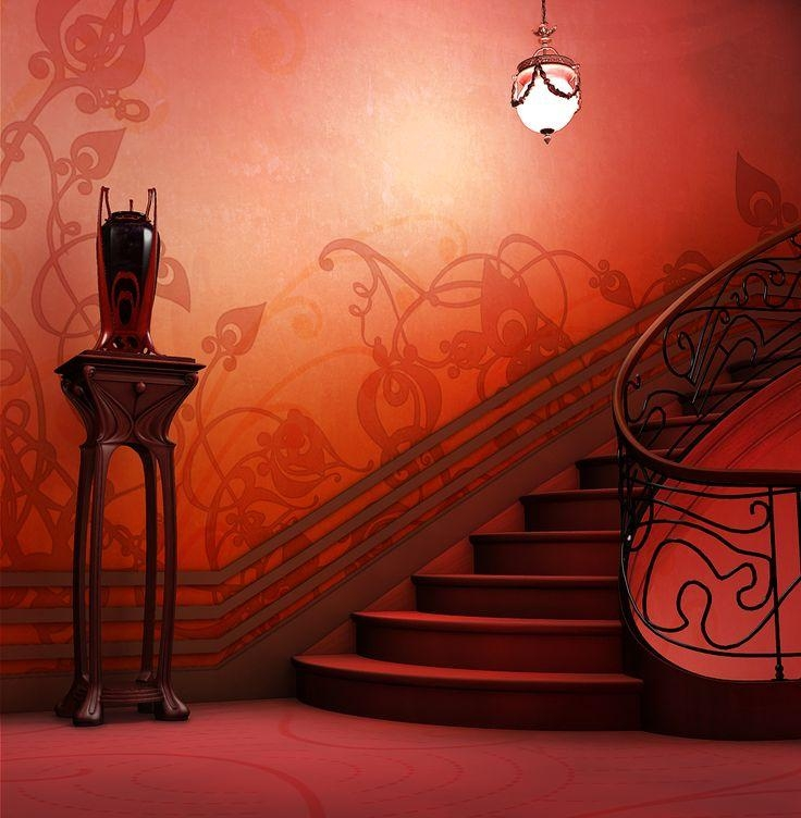424 Best Art Nouveau Images On Pinterest | Architecture, Art Deco Pertaining To Art Nouveau Wall Decals (Photo 19 of 20)