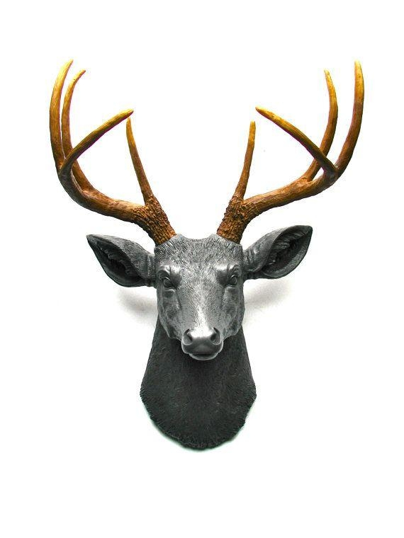 43 Best Stag Head Images On Pinterest | Stag Head, Antlers And Inside Stags Head Wall Art (Image 2 of 20)