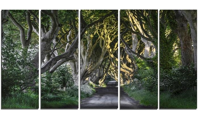 43% Off On The Dark Hedges Ireland Lands | Groupon Goods For Ireland Metal Wall Art (Image 2 of 20)