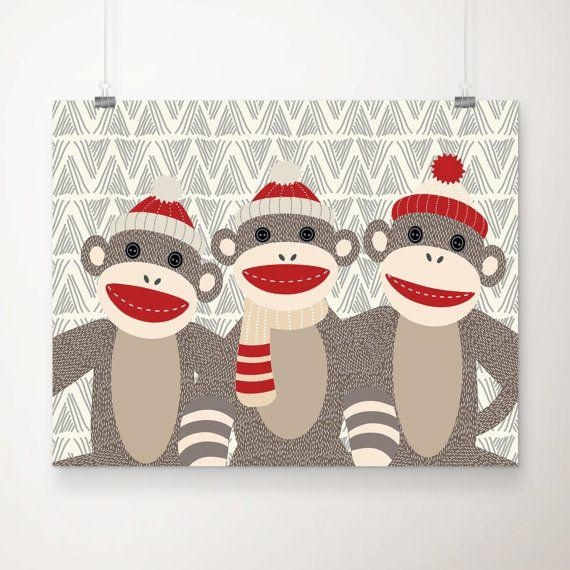 44 Best Sock Monkey Images On Pinterest | Sock Monkeys, Sock In Sock Monkey Wall Art (Image 4 of 20)