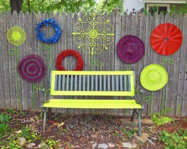 45 Best Fence Art Images On Pinterest | Garden Fences, Fence Art For Diy Garden Wall Art (View 17 of 20)
