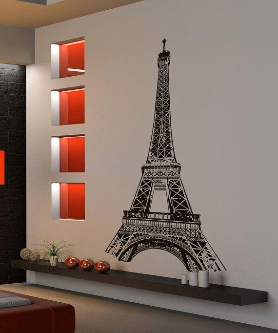 48 Best Paris – City Wall Decals & Stickers Images On Pinterest Regarding Paris Vinyl Wall Art (Image 2 of 20)