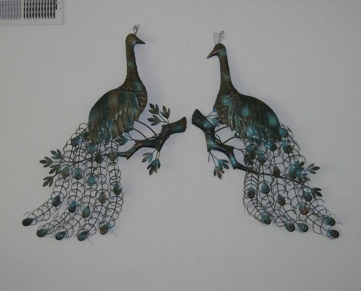 48 Best Peacock Images On Pinterest | Peacock Decor, Metal Walls Inside Peacock Metal Wall Art (Image 7 of 20)