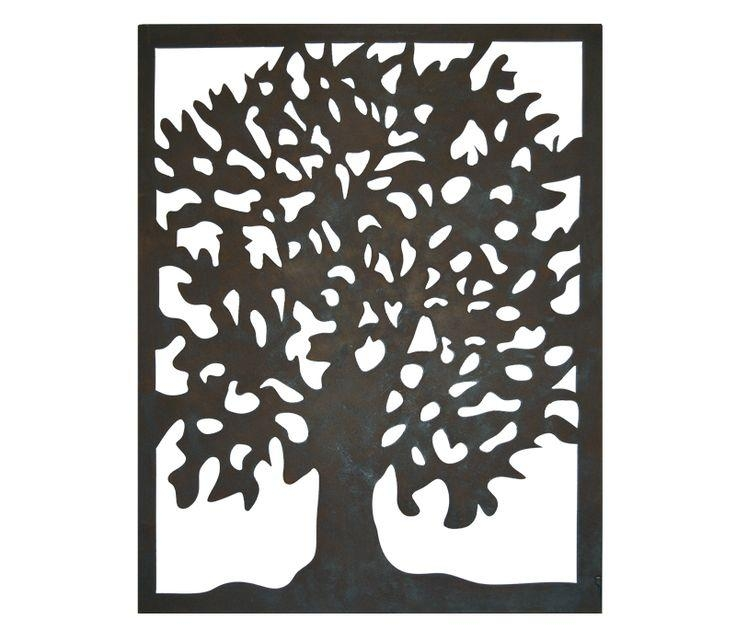 485 Best Tree Art Images On Pinterest | Tree Art, Metal Walls And Pertaining To Oak Tree Metal Wall Art (Image 7 of 20)