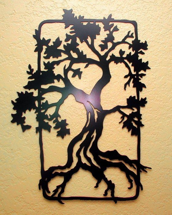 485 Best Tree Art Images On Pinterest | Tree Art, Metal Walls And Regarding Metal Oak Tree Wall Art (View 13 of 20)