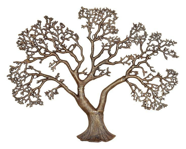 485 Best Tree Art Images On Pinterest | Tree Art, Metal Walls And With Regard To Oak Tree Metal Wall Art (Image 8 of 20)