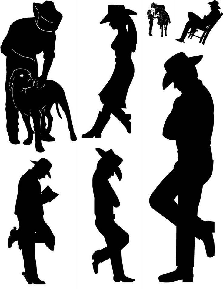 49 Best Silhouette – Cowboy Images On Pinterest | Silhouette With Regard To Western Metal Art Silhouettes (Image 5 of 20)