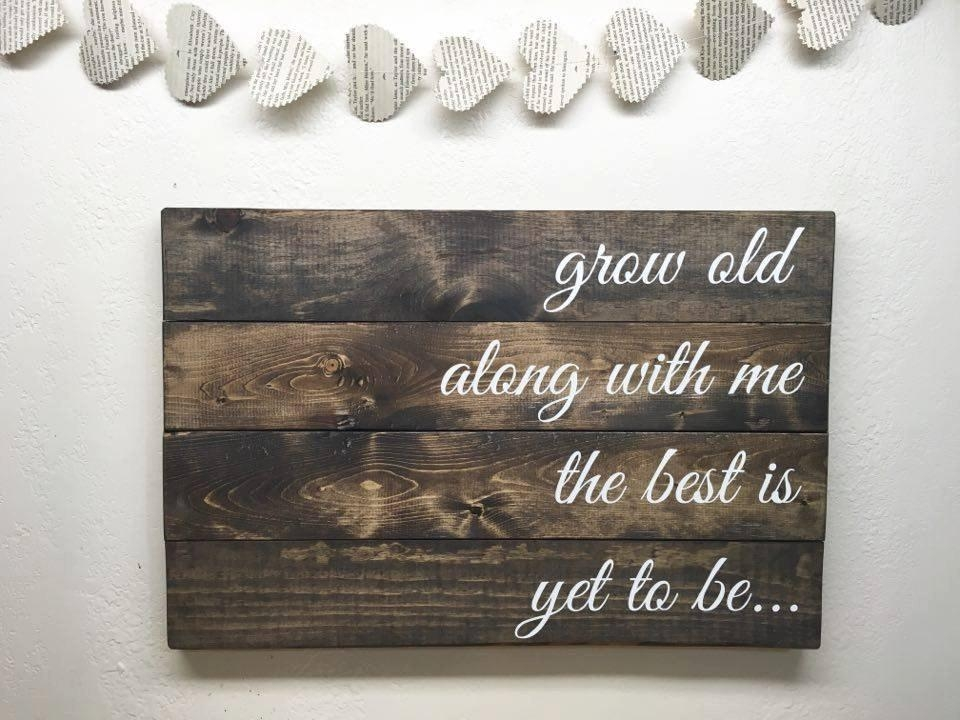 49+ Wood Wall Art Quotes Collections – The Unique Words Regarding Wooden Words Wall Art (View 9 of 20)