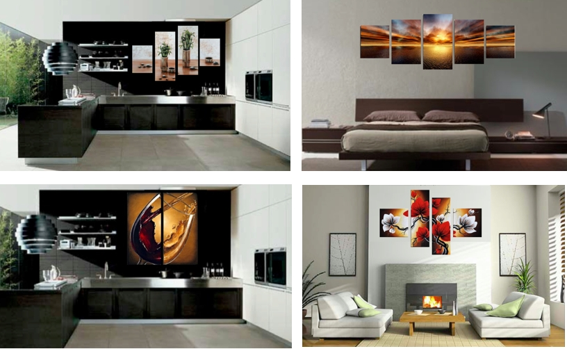 5 Piece Canvas Wall Art,5 Piece Canvas Art Set With 7 Piece Canvas Wall Art (Photo 11 of 20)