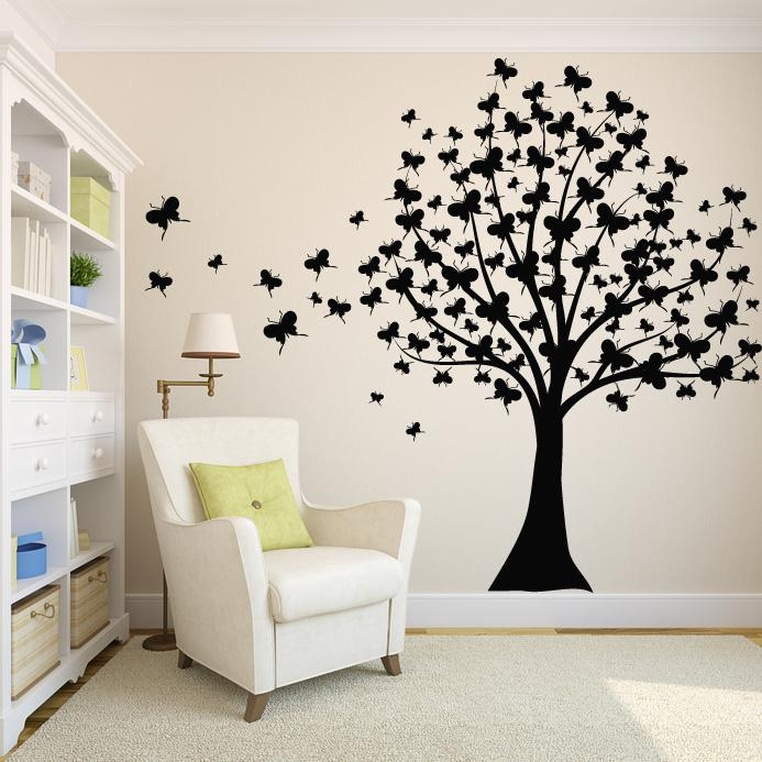 5 Types Of Wall Art Stickers To Beautify The Room » Inoutinterior Regarding Butterflies Wall Art Stickers (Image 2 of 20)