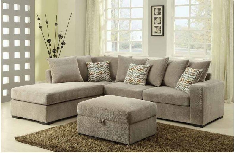 500044 Coaster Taupe Olson Reversible Sectional In Coaster Sectional Sofas (Image 1 of 20)