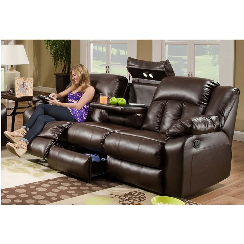 50325 Sebring Coffeebean Bonded Leather Power Double Motion Sofa Intended For Simmons Leather Sofas And Loveseats (Image 1 of 20)