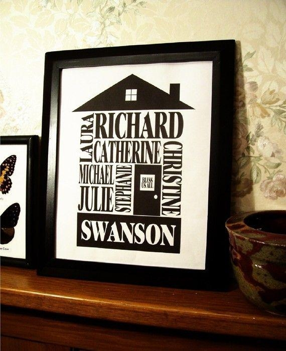 506 Best Big Letters & Framed Names Images On Pinterest | Family Inside Personalized Last Name Wall Art (View 10 of 20)