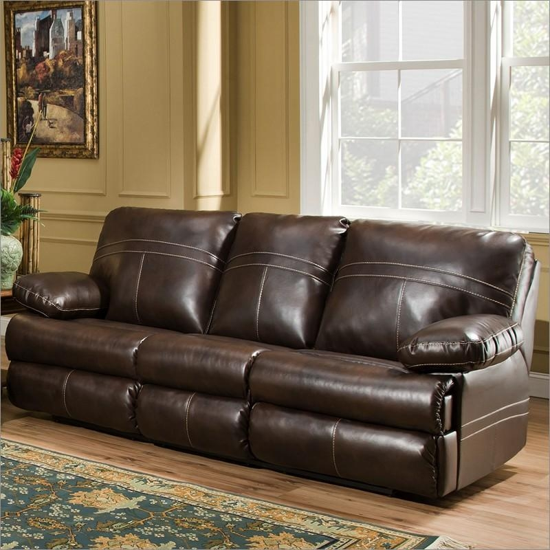 50981 Miracle Saddle Bonded Leather Queen Sleeper Sofasimmons Within Simmons Sofas (Image 3 of 20)