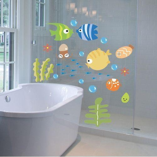 51 Best Bubbles Kids Bathroom/under The Sea Images On Pinterest Regarding Fish Decals For Bathroom (Photo 17 of 20)