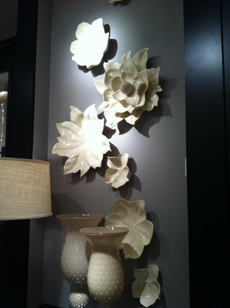 53 Best Ceramic Wall Art Images On Pinterest | Ceramic Flowers For Ceramic Flower Wall Art (Image 5 of 20)