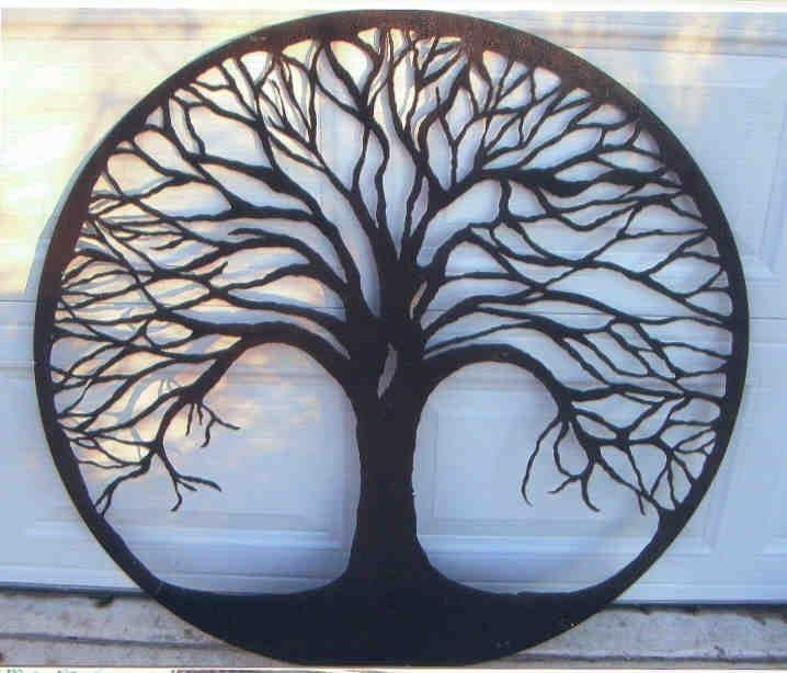 530 Best Trees Images On Pinterest | Tree Silhouette, Silhouette With Regard To Oak Tree Metal Wall Art (Photo 1 of 20)