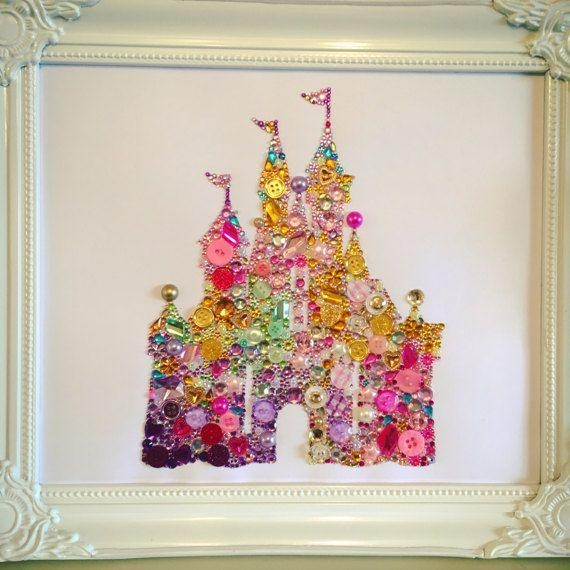 54 Best Swarovski / Button Framesthe Chic Geek Images On With Regard To Disney Princess Framed Wall Art (Photo 18 of 20)
