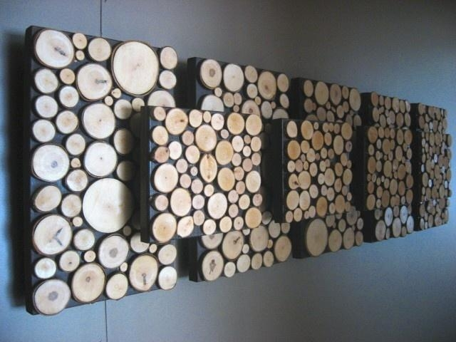 55 Best Log Walls Images On Pinterest | Fire Wood, Home And Diy Pertaining To Cool Modern Wall Art (Image 2 of 20)