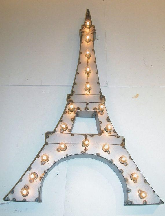55 Best Metal Sign Art Images On Pinterest | Marquee Lights, Metal Within Metal Eiffel Tower Wall Art (Photo 16 of 20)