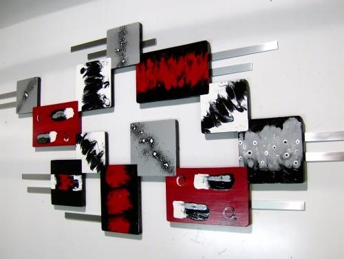55X24 Unique Modern Abstract Wood Metal Wall Sculpture Hanging Regarding Unique Modern Wall Art (View 19 of 20)