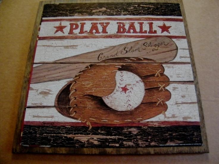 57 Best Boys Room Images On Pinterest | Boy Rooms, Baby Boy For Vintage Baseball Wall Art (Image 4 of 20)